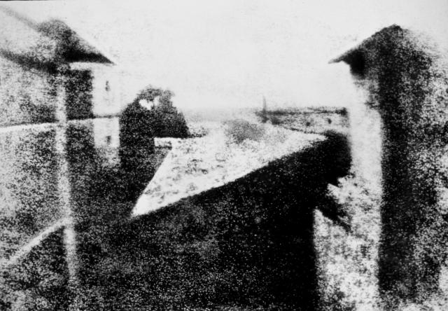 Vista desde el estudio de Niépce en Le Gras