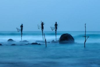 De pesca en Sri Lanka