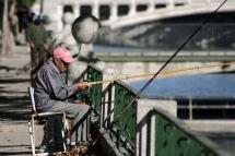 Pescando en el Manzanares